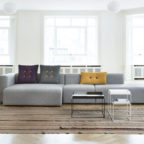 Via Design Delicatessen | HAY Dot Pillow | Grey and White