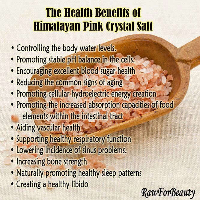 The Health Benefits of Pink Himalayan Crystal Salt via: Natural Living and Parenting