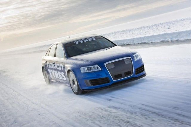 The new world record for fastest car on ice was achieved by Audi RS6 and Nokian Tyres (Hakkapeliitta 8 winter tire), inventor of the winter tyre, when test driver Janne Laitinen drove at a speed of 335.713 kilometres per hour (208.602 mph) on the ice of the Gulf of Bothnia in freezing winter weather.
