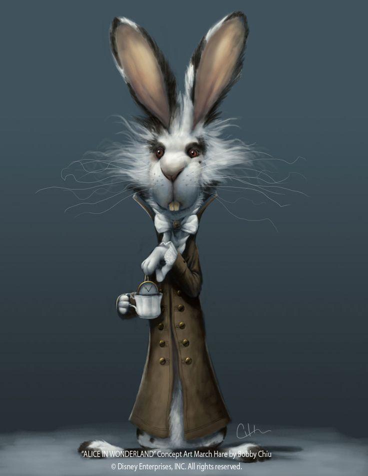 Tim Burton's Alice in Wonderland - March Hare concept art 2