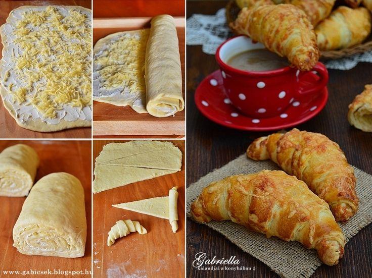 Gabriella kalandjai a konyhában :): Réteges sajtos-vajas kifli - dagasztás nélkül