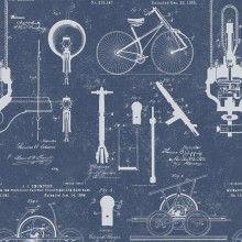 Tapet designer The Scientist  Patents Blue, MINDTHEGAP
