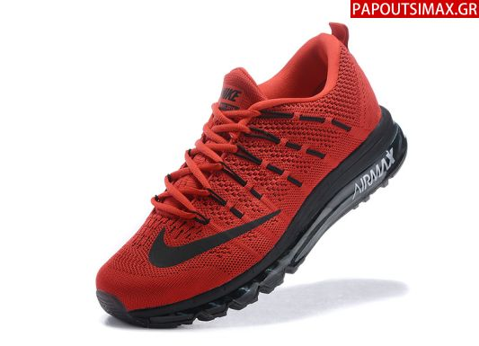 Nike Airmax 2016 Flyknit Red Black