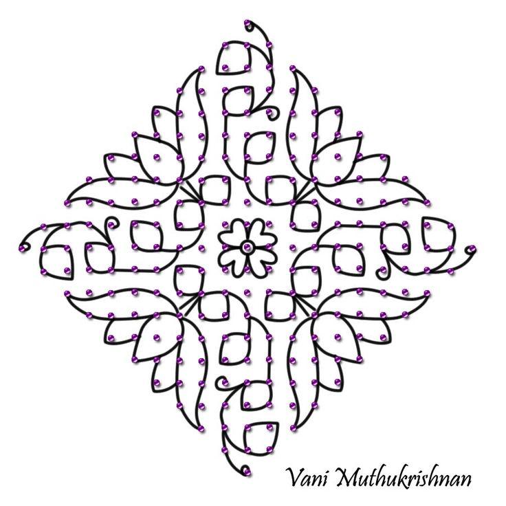 My Kolam: Pink and blue lotus