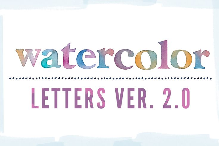 This Watercolor Letters Clip Art Comes in a Variety of Colors. Just $6 to Download and Enjoy! Watercolor Letters Come as PNG Images