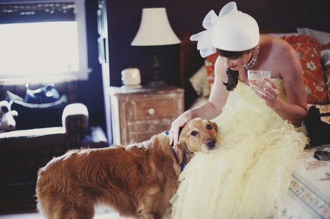 A wedding at home, photographed by Kristen Marie Tourtillotte.