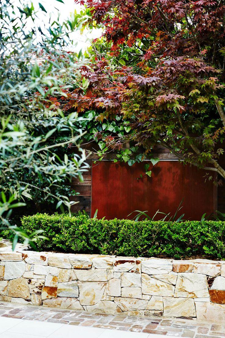 Copper water feature set into the garden - Outdoor Establishments