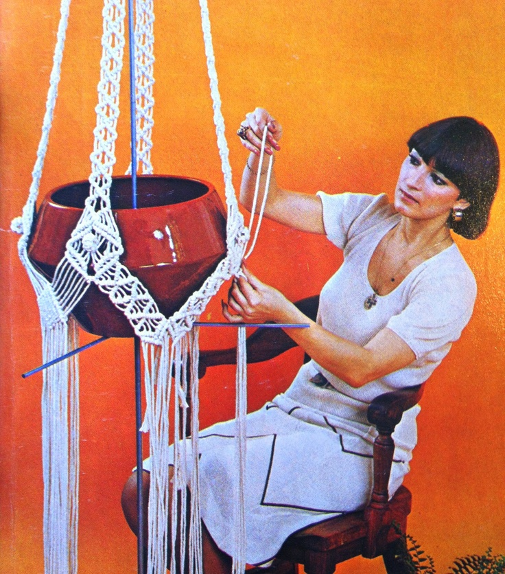 70s macrame crafter