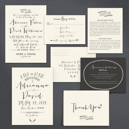A Printable Press - Modern Calligraphy Invitation