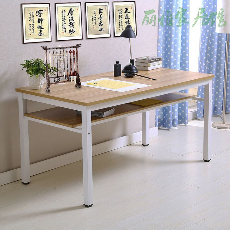 Calligraphy Table Computer Desk Simple Desk Calligraphy And Painting Desk Desk Training Desk Desk Writing Desk 包邮书法 Simple Desk Computer Table Table Desk
