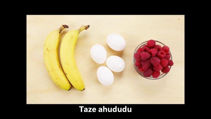 3 Malzeme ile Pratik Muffin Tarifi #muffin #muz #ahududu #yumurta #tarifler #tatlilar #pratiktatlilar