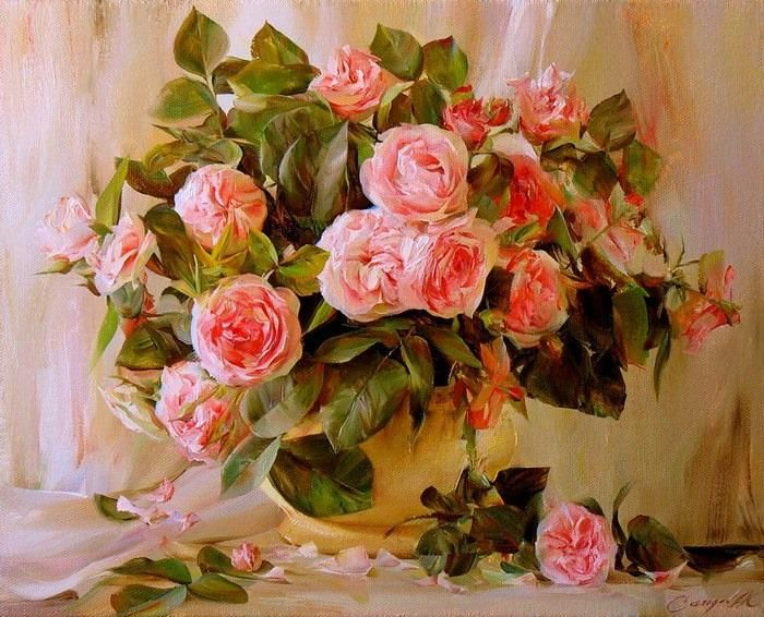 Roses by Aydemir Saidov - #pintura #art #artwit #twitart #fineart #painting