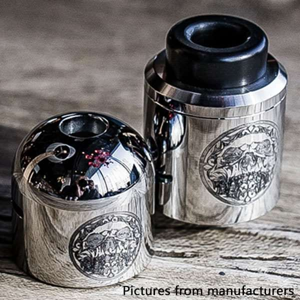 Authentic SILENT CLOUD   24mm RDA Rebuildable Dripping Atomizer - Silver