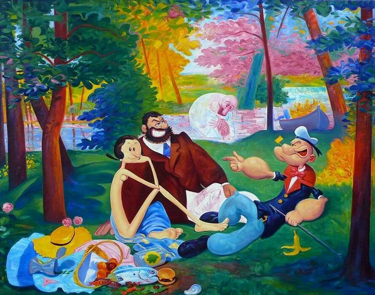 Popeye/Dejeuner sur l'herbe Made By Andre von Morisse