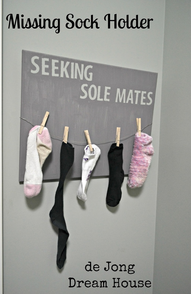 Seeking Sole Mates Missing Sock Holder.. cute ideas!.. this site shows up as unsafe but I've checked it out myself.. it's fine.  cute site with lots of tips....if that changes, please notify me.