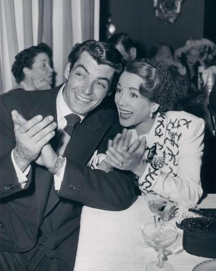 Rory Calhoun and wife Lita Baron