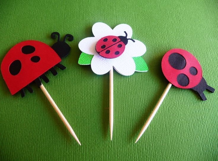 Ladybug Birthday Cupcake Toppers Set of 12 - Red or Pink Ladybug - Flower Garden Theme Baby Shower - Spring 1st Birthday Party Deorations by EMTsweeetie on Etsy https://www.etsy.com/listing/63749171/ladybug-birthday-cupcake-toppers-set-of