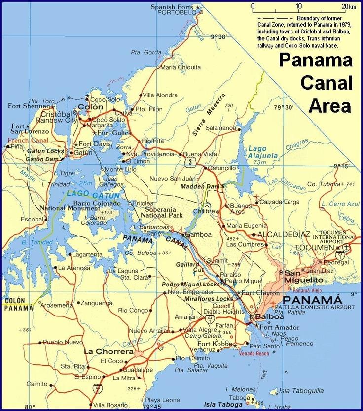 Best Maps Of Panama Images On Pinterest Panama Canal Lodges - Is panama us territory map