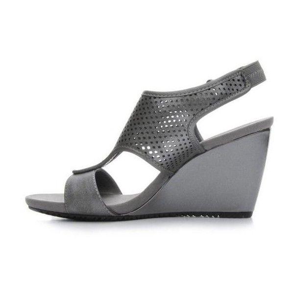 Women's Anne Klein Sport Tarella Black | Shoe Carnival ($45) ❤ liked on Polyvore featuring shoes, anne klein, anne klein shoes, black shoes, kohl shoes and sports footwear