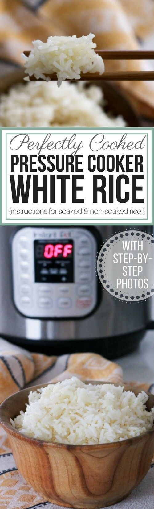 How to Cook Perfect Rice in the Electric Pressure Cooker (Instant Pot) -Easily prepare perfect rice for maximum absorption and nutrition in your electric pressure cooker. Instructions for both soaked rice and regular rice. #pressurecooker #instantpot #healthyrice via @preparenourish