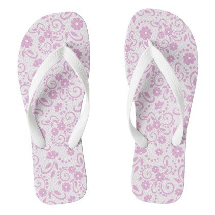 Pretty shabby chic pink and white floral flip flops - chic design idea diy elegant beautiful stylish modern exclusive trendy