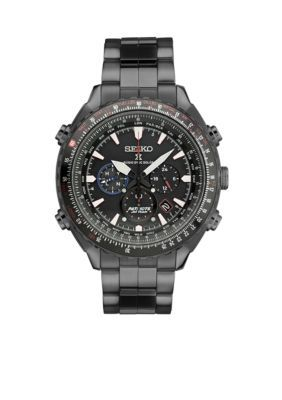 Seiko Black Mens Prospex Patriots Jet Team Limited Edition Solar Watch