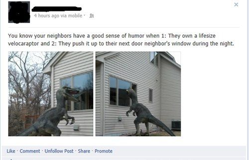 How to tell if your neighbors have a good sense of humor...
