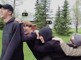 Suga: im too lazy to walk myself JK: me too JH: same.... ah, i have an id, jin hyung'll help us J: godness, just let me go kids, im not only lazy but also old