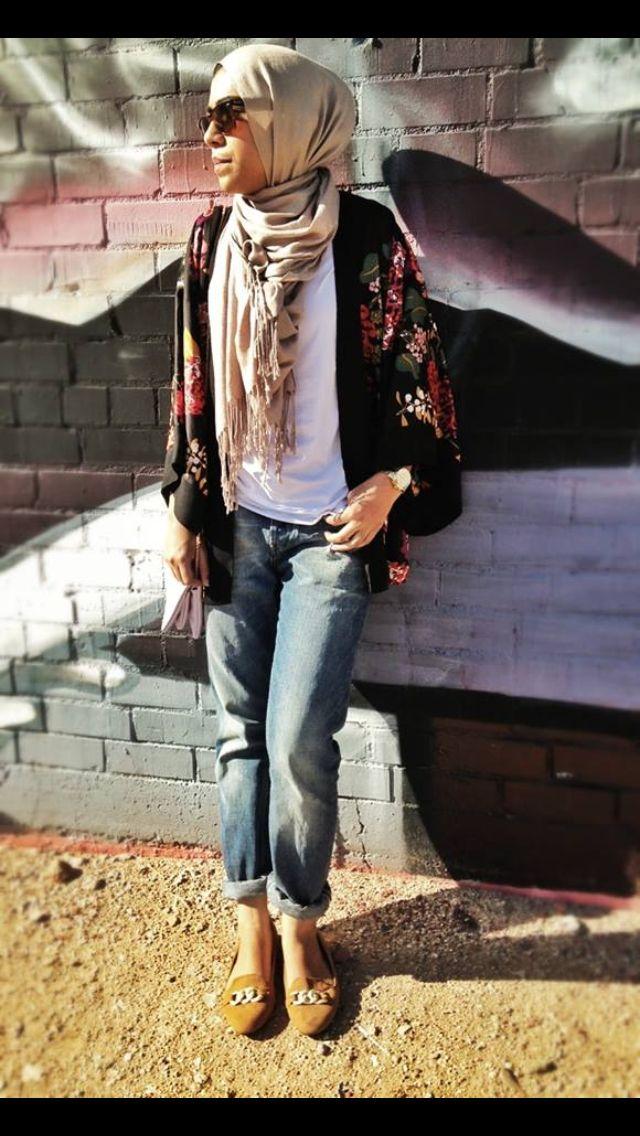 Street style hijab