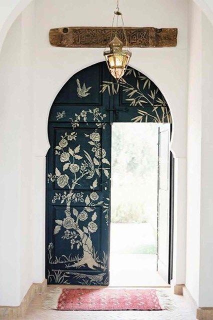 Door Stencilling - From stylish paint projects to game-changing accessories, the H&G guide to refreshing your home on a budget - interiors on HOUSE by House & Garden