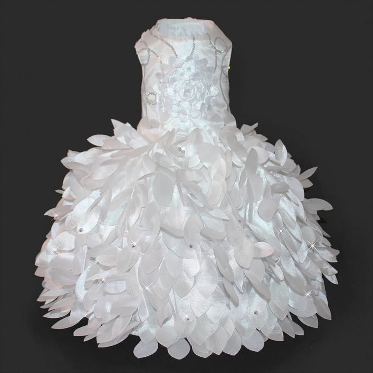 Cinderella Princess White Glamour Dog Wedding Dress - The New York Dog Shop