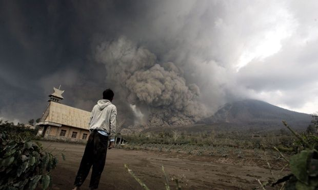 2 Feb. Mount Sinabung erupts in Indonesia, claiming 16 lives.