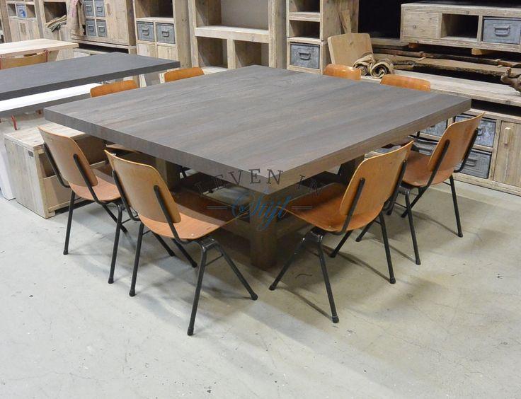 20 beste idee n over vierkante eettafels op pinterest vierkante tafels kleurrijke - Eettafel personen ...