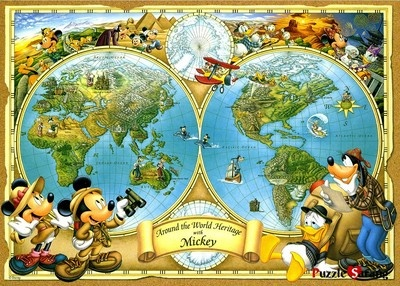 14 best disney puzzels images on pinterest disney cruiseplan jigsaw puzzles 2000 pieces mickeys world map disney gumiabroncs Image collections