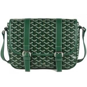 Green Goyard Messenger Bag