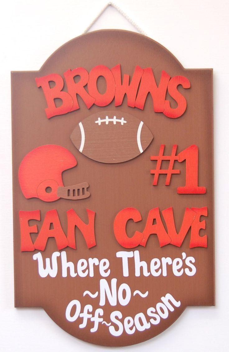 Browns Cincinnati Browns Football Fan Cave sports sign Browns Football Man Cave Sportsbar decor gifts for guys football fans Browns fans by UCsportsbyBill on Etsy