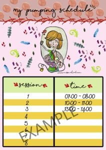Free Printable Pumping Schedule. See more great story about pumping on www.missmakiah.com