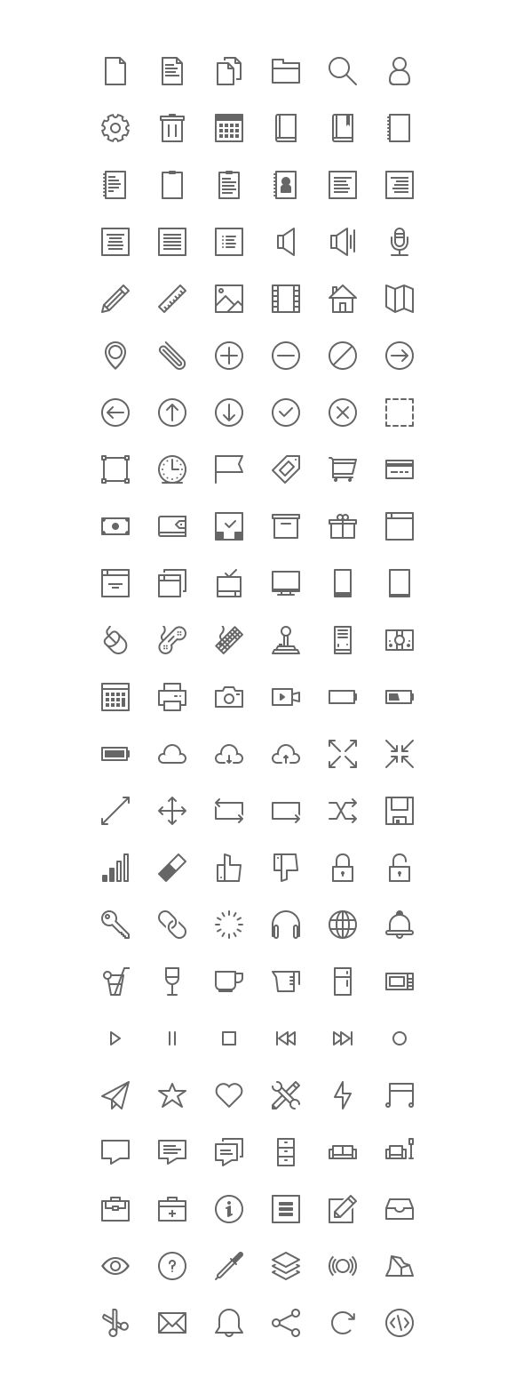 Cosmicons - 138 Line Icons by Cosmin Negoita