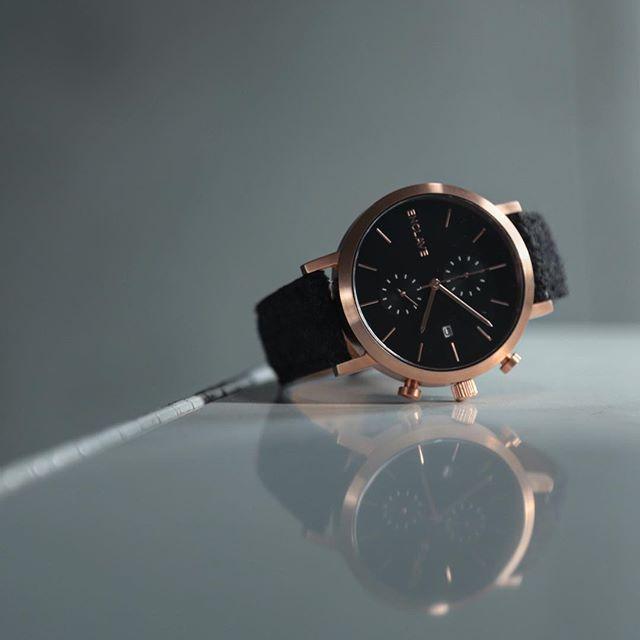 enclave watch. enclave chrono rosegold/tweed watch