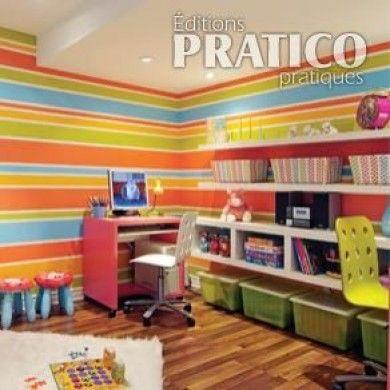 Peindre un mur rayé - En étapes - Décoration et rénovation - Pratico Pratique
