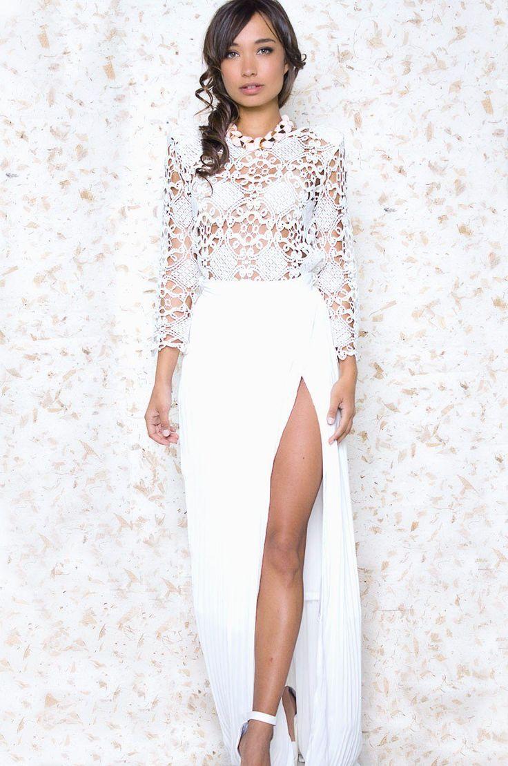 29 best Pretty White Maxi Skirt images on Pinterest | White maxi ...