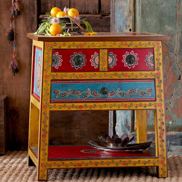 Wooden Side Table ~ Hand Crafted By Artisans In India Via Www.worldmarket.