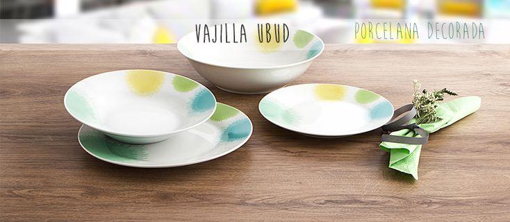¿Te gusta la #porcelana? La #vajilla de porcelana decorada Ubud está pensada para alegrar tu mesa todos los días. Además, su material es extra-resistente ;)