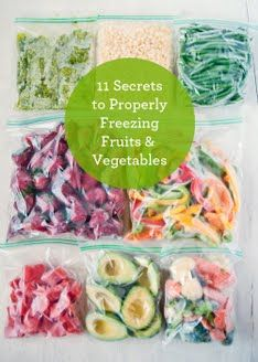 How to Properly Freeze Fruits & Veggies - a thoroughly explained and illustrated list of tips to help take full advantage of Farmers Markets and vegetable patch overflow.