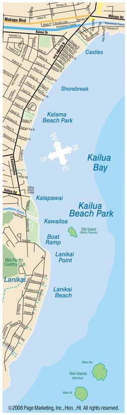 Kailua Beach Guide from KailuaVacationRentals.net - The Internet's most complete guide to America's Best Beach in Kailua, Oahu, Hawaii