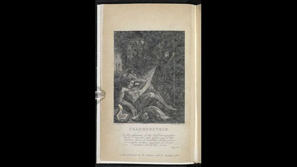 1831 edition of Frankenstein or the Modern Prometheus and the story behind the story