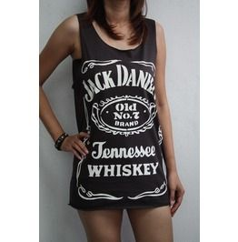 Jack Daniels Whiskey Old No.7 Vest T Shirt Tank Tops
