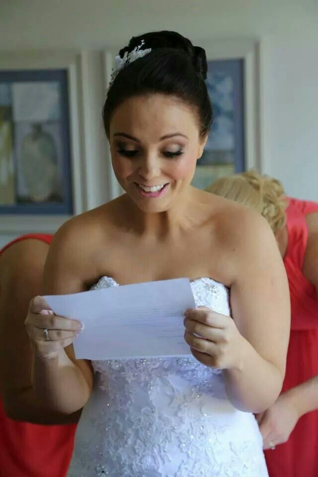 #happybride #excited #letterfromgroom