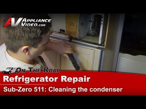 Sub-Zero Refrigerator not cooling - dirty condenser - compressor overheating - YouTube