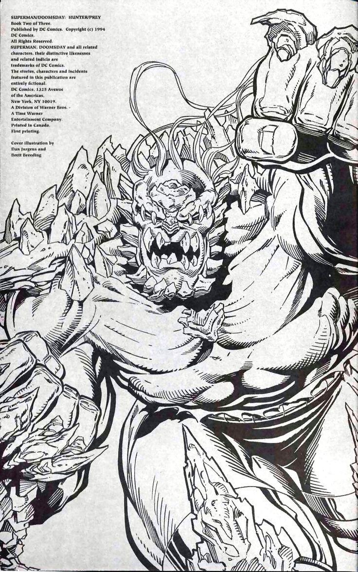 Doomsday (Hunter and Prey) by Dan Jurgens and Brett Breeding. DC comic book art